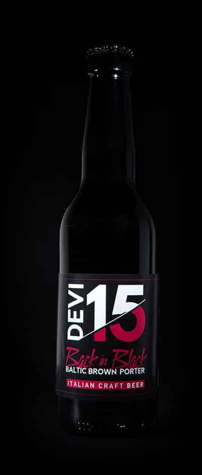 Bottiglia Devi15 - Back in Black - Brown Porter - Italian Craft Beer
